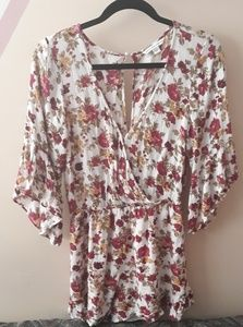 American Eagle Outfitters Flowers Romper